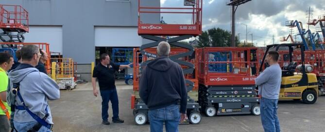Scissor lift training at OHR Rents
