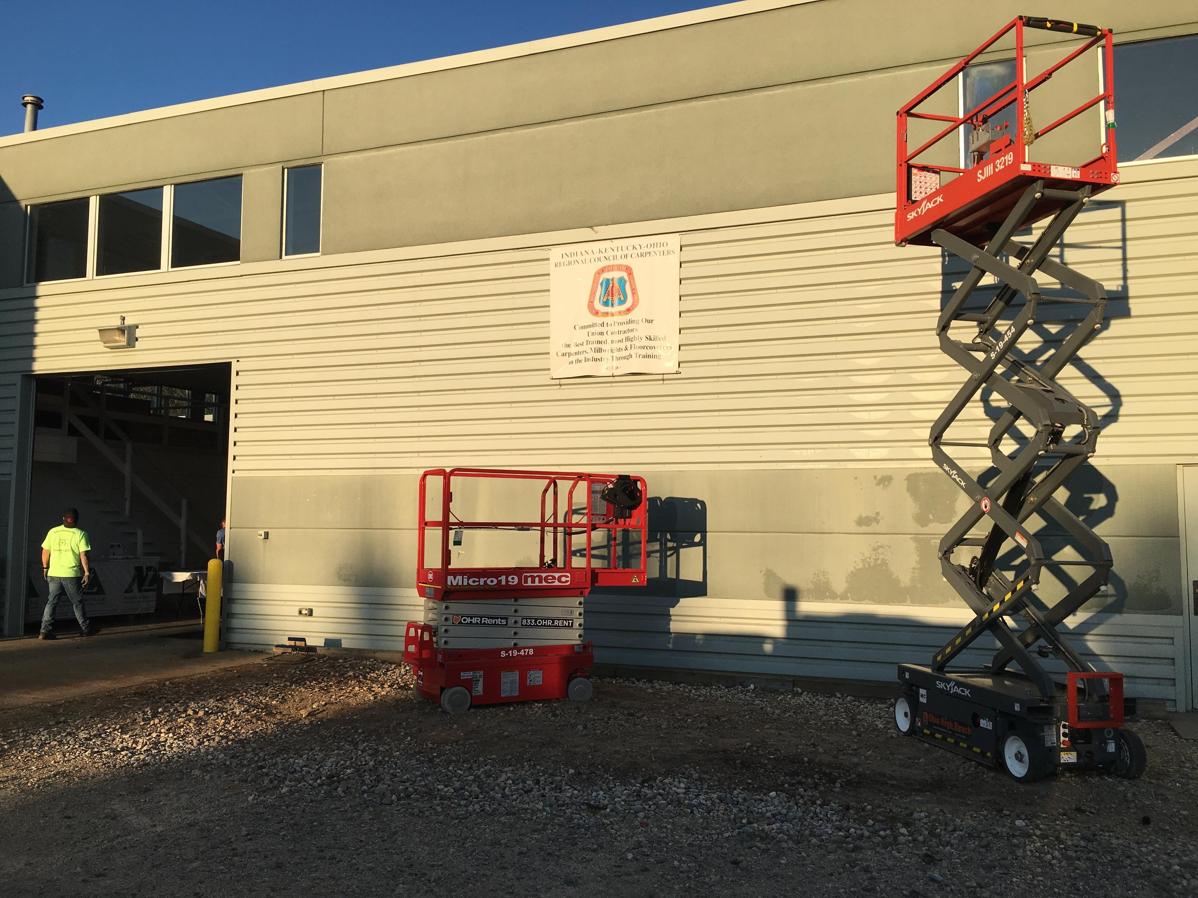 OHR Rents scissor lifts in Ohio