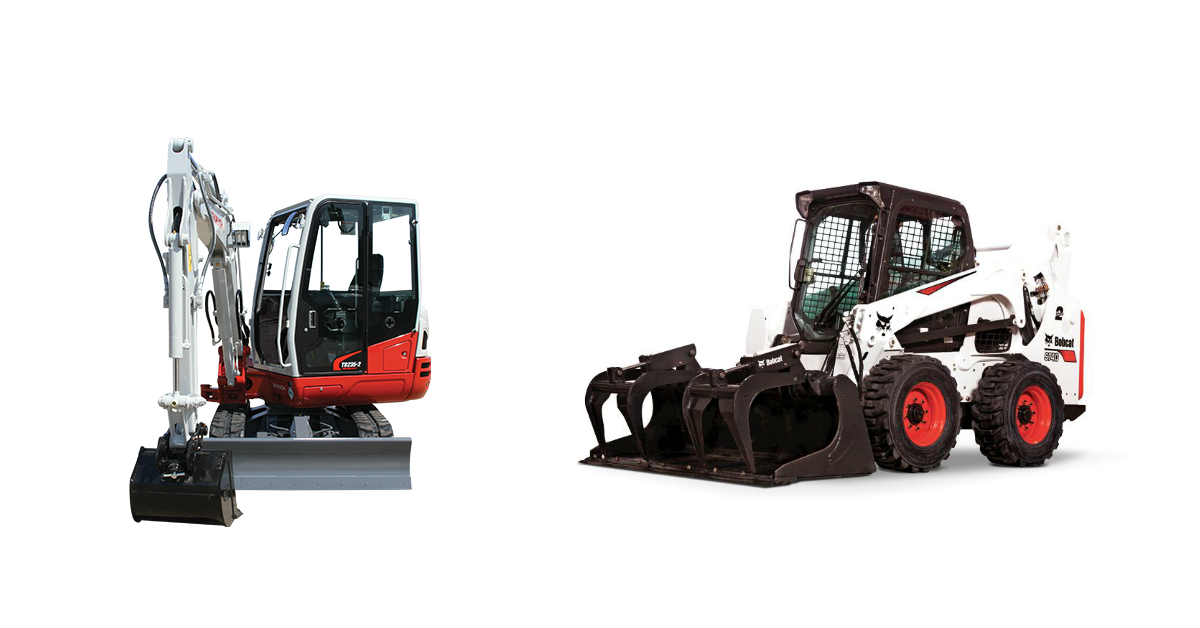 mini excavator and skid steer rental deals